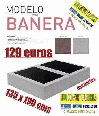 Bañera cama tapizada