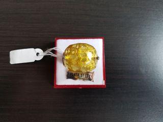 Anillo Plata 925 con gema amarilla