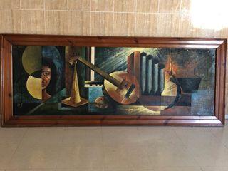 Cuadro pintado al óleo... 40 años de su pintado.