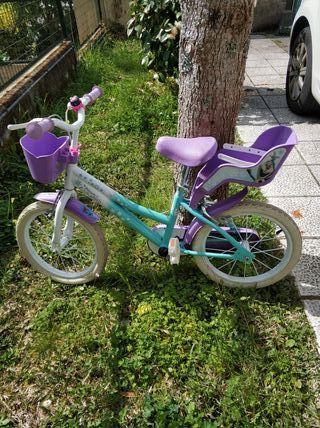 Bicicleta infantil de Elsa y Ana