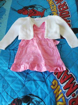 vestido y torera bebé niña talla 3-6 meses