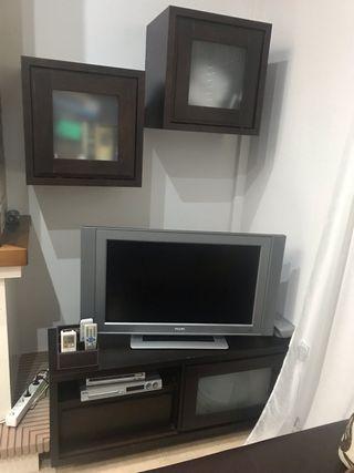 Mesa de tv y dos muebles auxiliares
