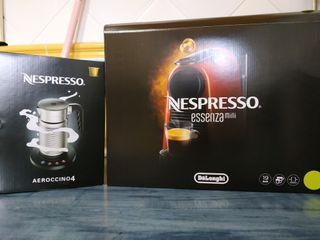 cafetera Nespresso essenza mini & aeroccino4