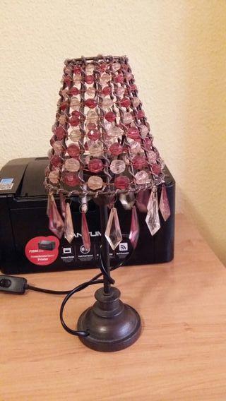 lampara de cristales