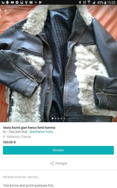veste fourré gian franco ferré homme
