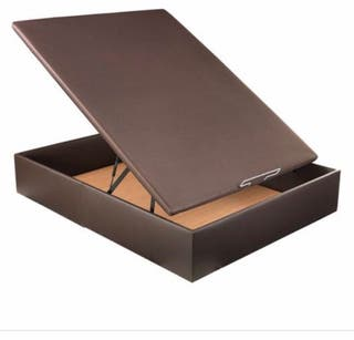 Canapé de 150 x 190cm polipiel marrón