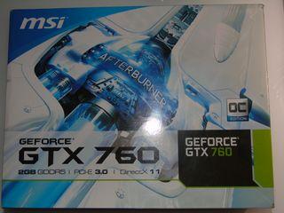 Tarjeta gráfica Nvidia GTX 760 Msi 2gb GDDR5