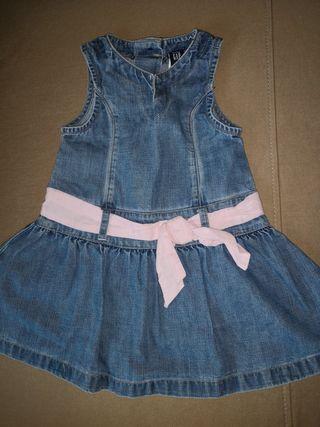BABY GAP vestido vaquero niña 12-18 meses