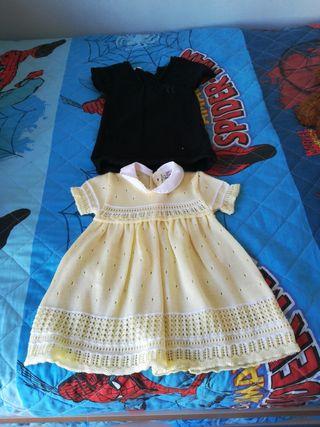 vestidos bebé niña talla 6-9 meses