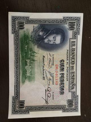 billete de 100 pesetas de 1925
