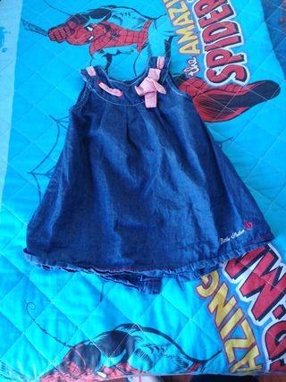 vestido vaquero niña