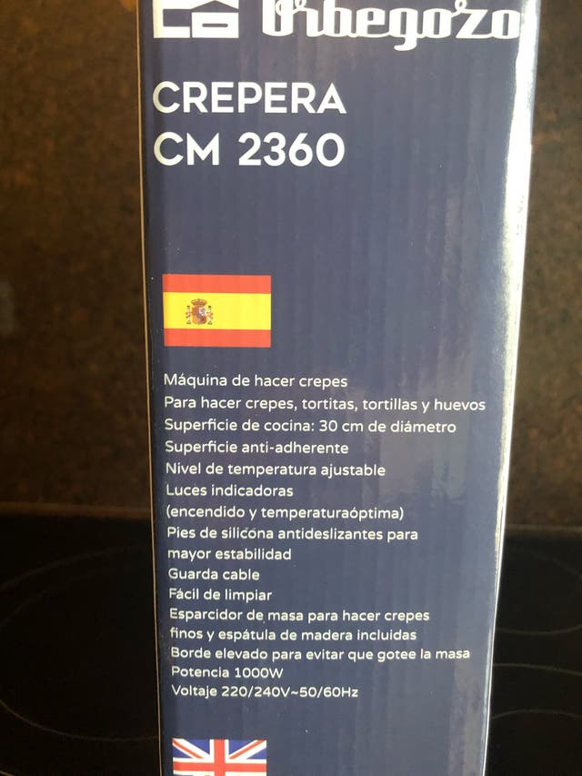 Crepera Orbegozo CM2360