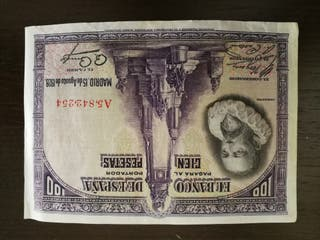 billetes de 100 pesetas de 1928