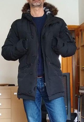 Navy Blue Levi's Parka Jacket