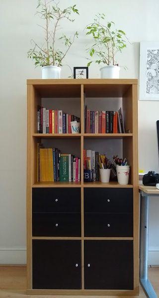 Ikea KALLAX shelving unit + 4 inserts