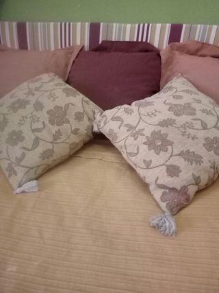 Cabecero cama y cortinas