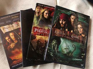 Cuatrilogia Piratas del Caribe en DVD