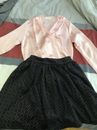 Conjunto de body y falda