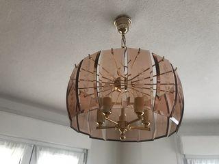 Lámpara de techo de techo de cristal labrado