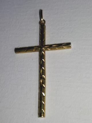 colgante oro Cruz