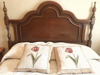 Cabezal para cama 135 en nogal