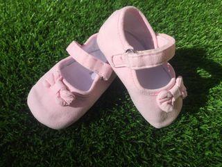 Zapatos bebe rosa n 19