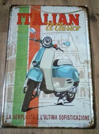 Cartel de moto. Italian, el clásico.