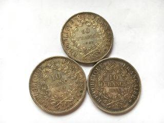 Oferta! 3 monedas de Plata EBC+ Tamaño Duro