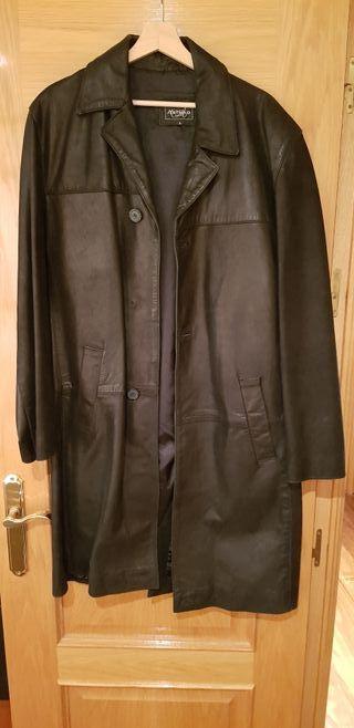 chaqueton largo de cuero hombre T/L