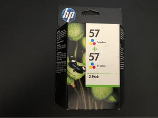 Pack de 2 cartuchos originales HP 57