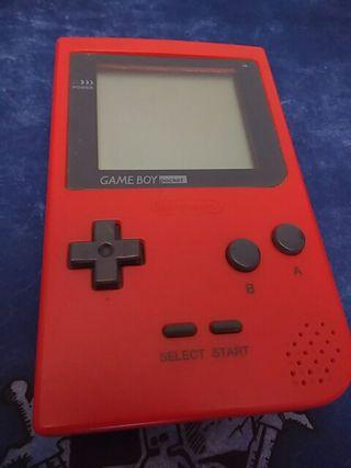 [Consola] Gameboy Pocket + estuche plastico (Roja)