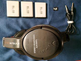 Auriculares-Radio FM, lector tarjetas y Bluetooth