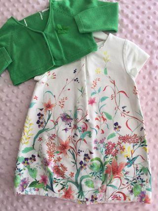 Ropa bebe vestido Zara t 12 meses