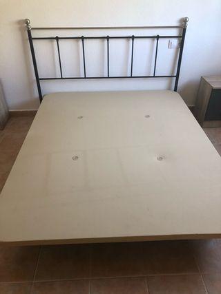 Base tapizada cama 150 y cabecero 157