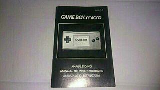 Manual Nintendo Game Boy Micro