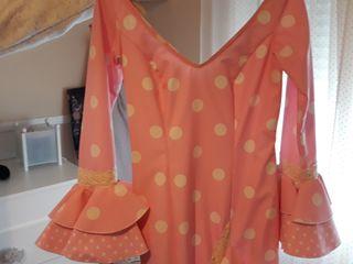 traje de flamenca rosa bebé