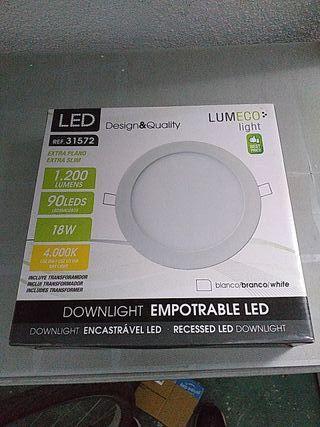 8 unidades de downlight empotrable led