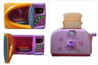 Microondas + Tostadora de juguete.