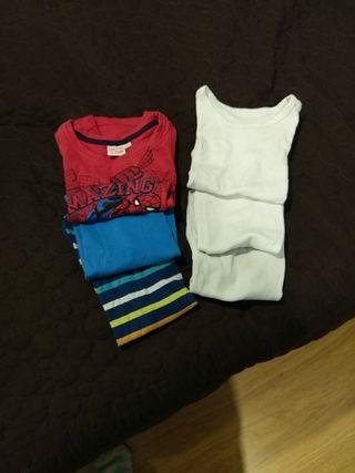 Lote camiseta interior niño T.3-4
