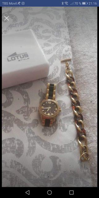 reloj y pulsera lotus