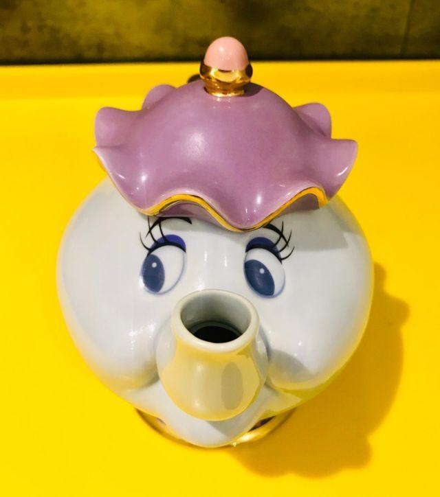Tetera de porcelan Sra. Potts de Tokio Disneyland