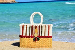 capazos de playa y bolsos