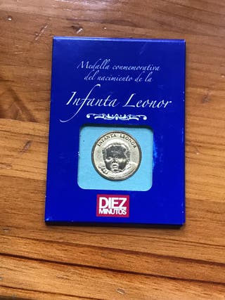 Medalla moneda infanta Leonor