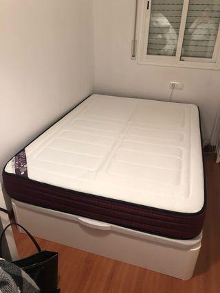 Canapé blanco + Colchón + 2 almohadas