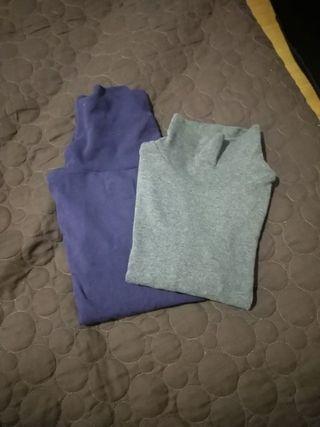 Lote de jerseys niño cuello alto T.4-5