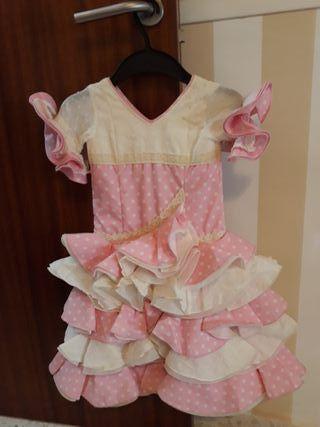 traje flamenca rosa niña
