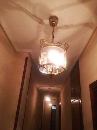 3 lámparas cristal