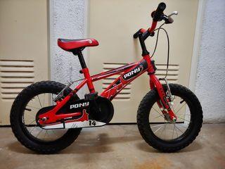 "Bicicleta BH infantil 14"" perfecta"