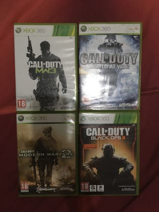 Call of duty XBOX 360 pack 4 videojuegos