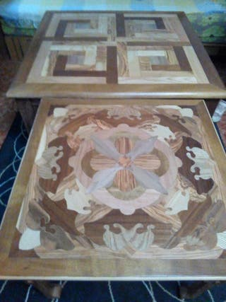 Mesa madera rustica artesanal personalizada